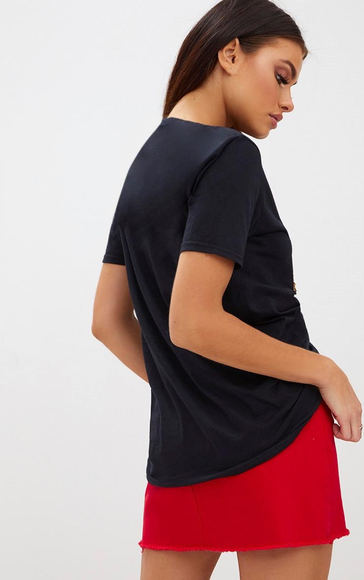 Black XMAS Sequin Glitter Slogan T Shirt 2