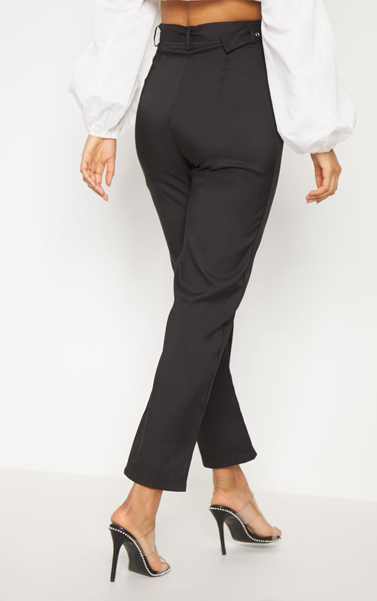 Black Belted Slim Leg Trouser 4