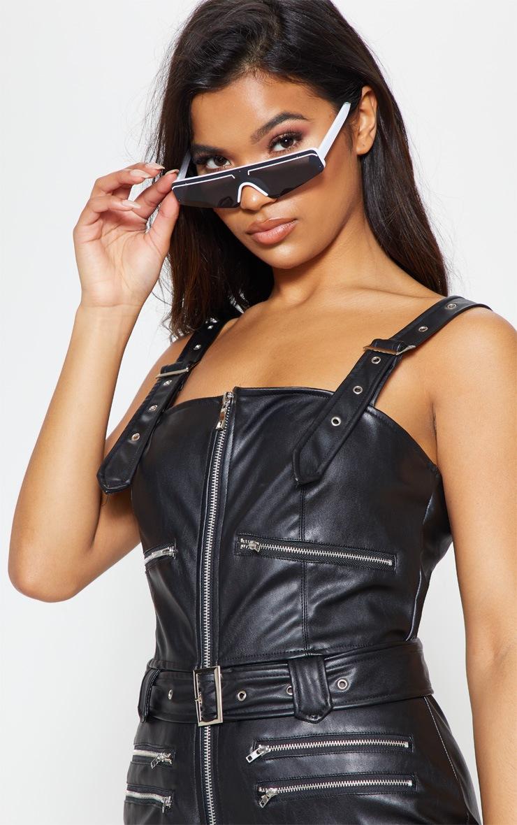 Black Biker Belted Catsuit 6
