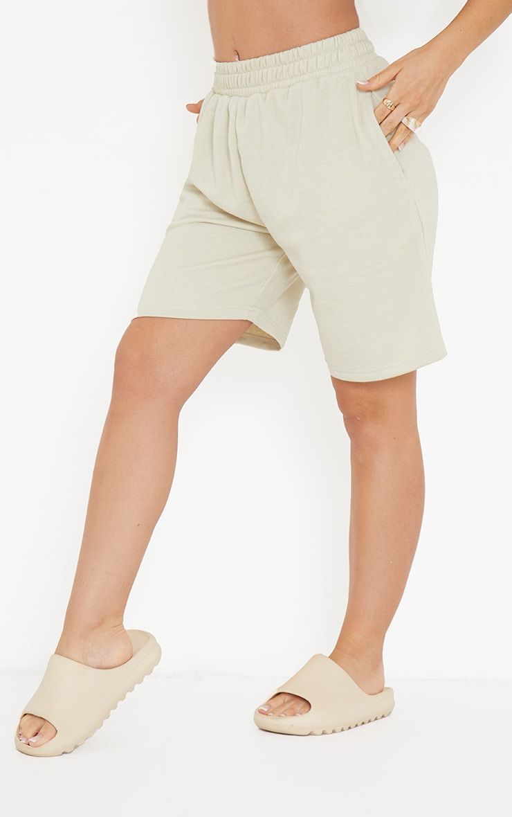 Stone Lightweight Longline Sweat Shorts 2