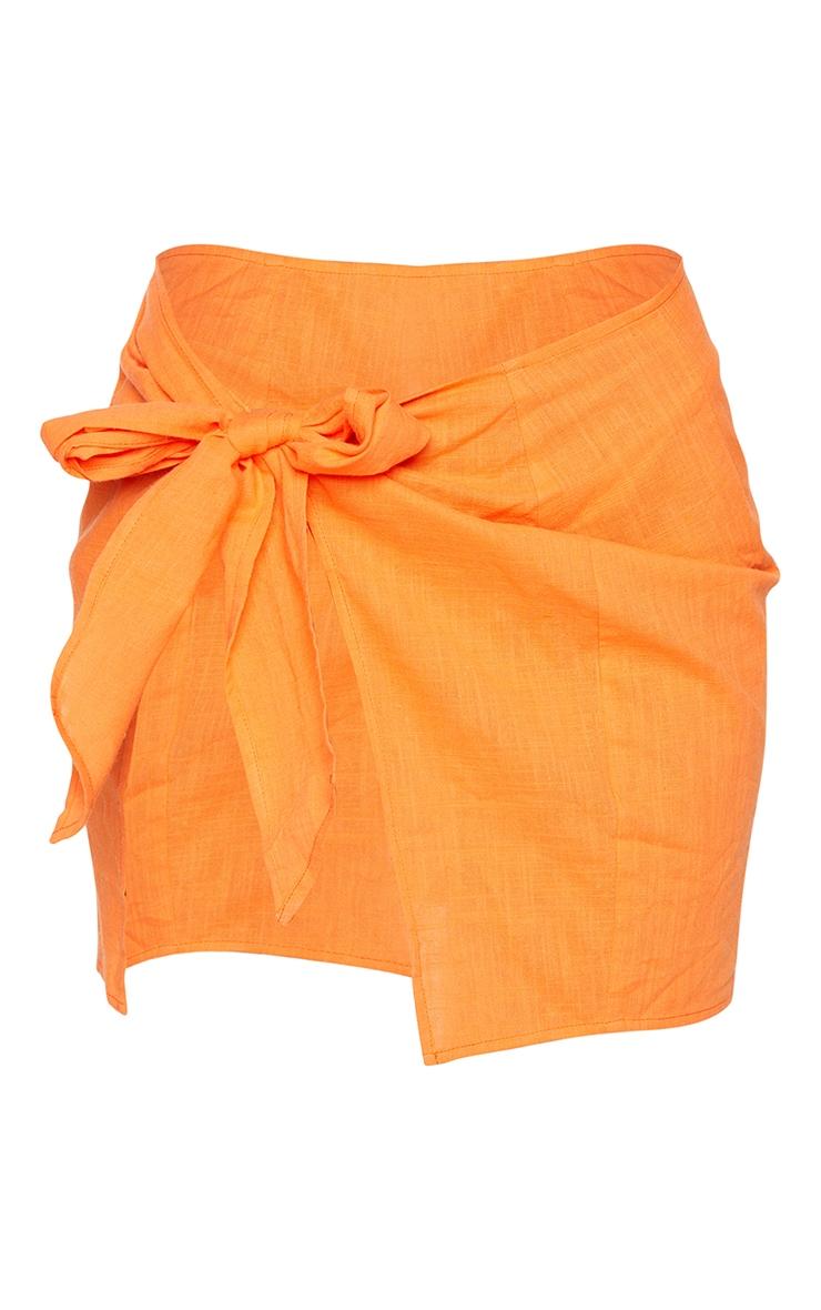 Orange Mini  Cotton Tie Sarong 6