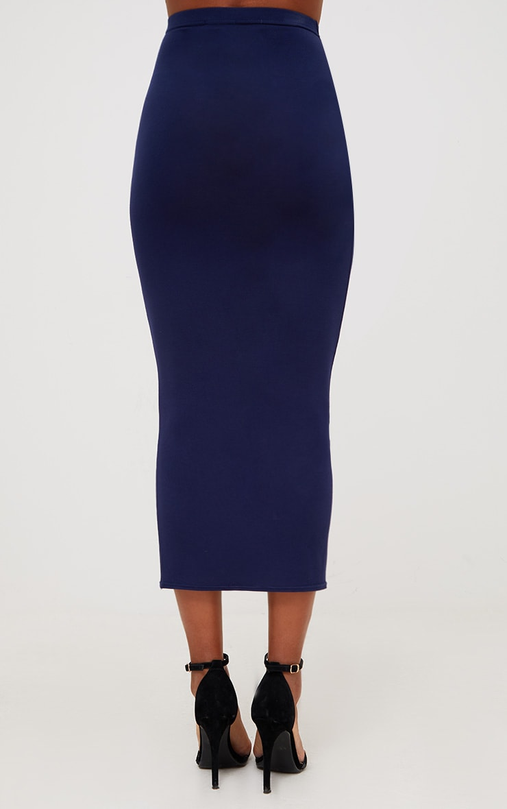 Red/Navy 2 Pack Jersey Midaxi Skirt 4