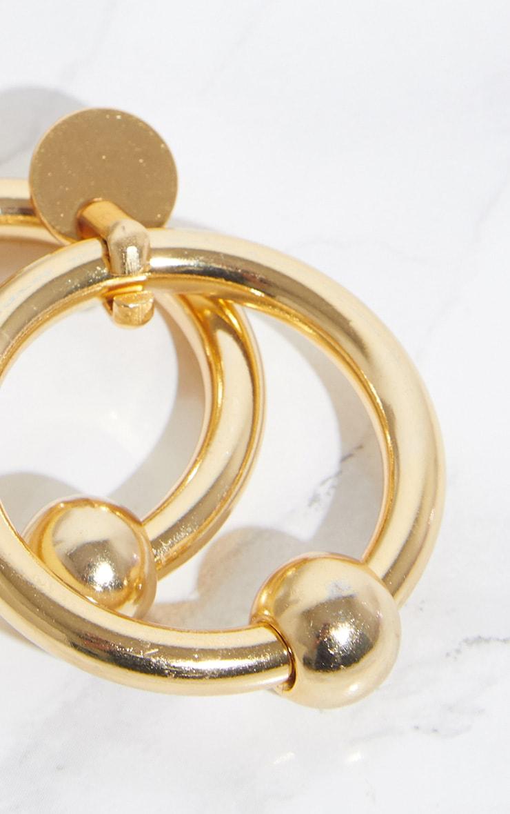 Gold Ball Hoop Earrings 4