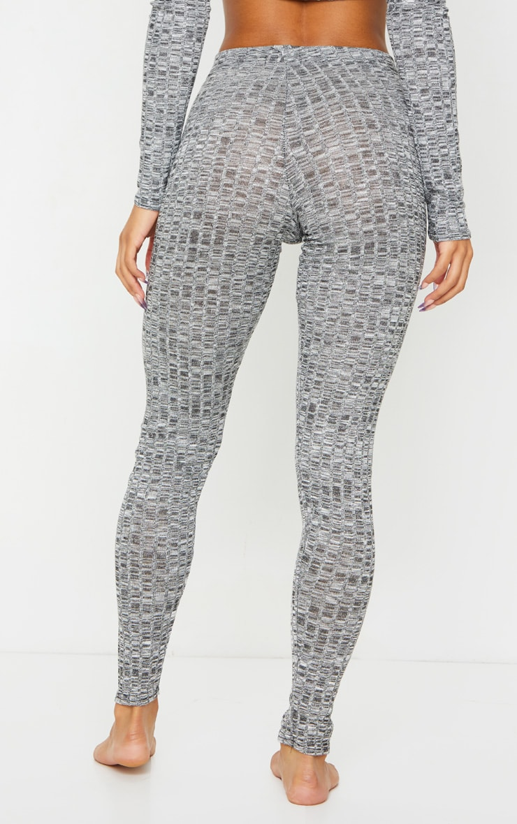 Grey Rib Lounge Leggings 3