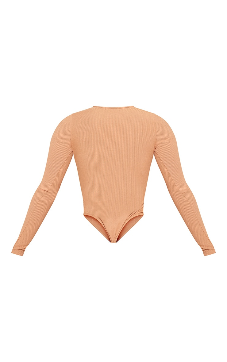 Shape Camel Ribbed Long Sleeve Bodysuit 4
