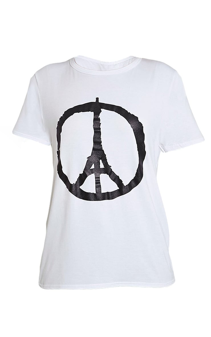 Paris White Peace T-Shirt 1