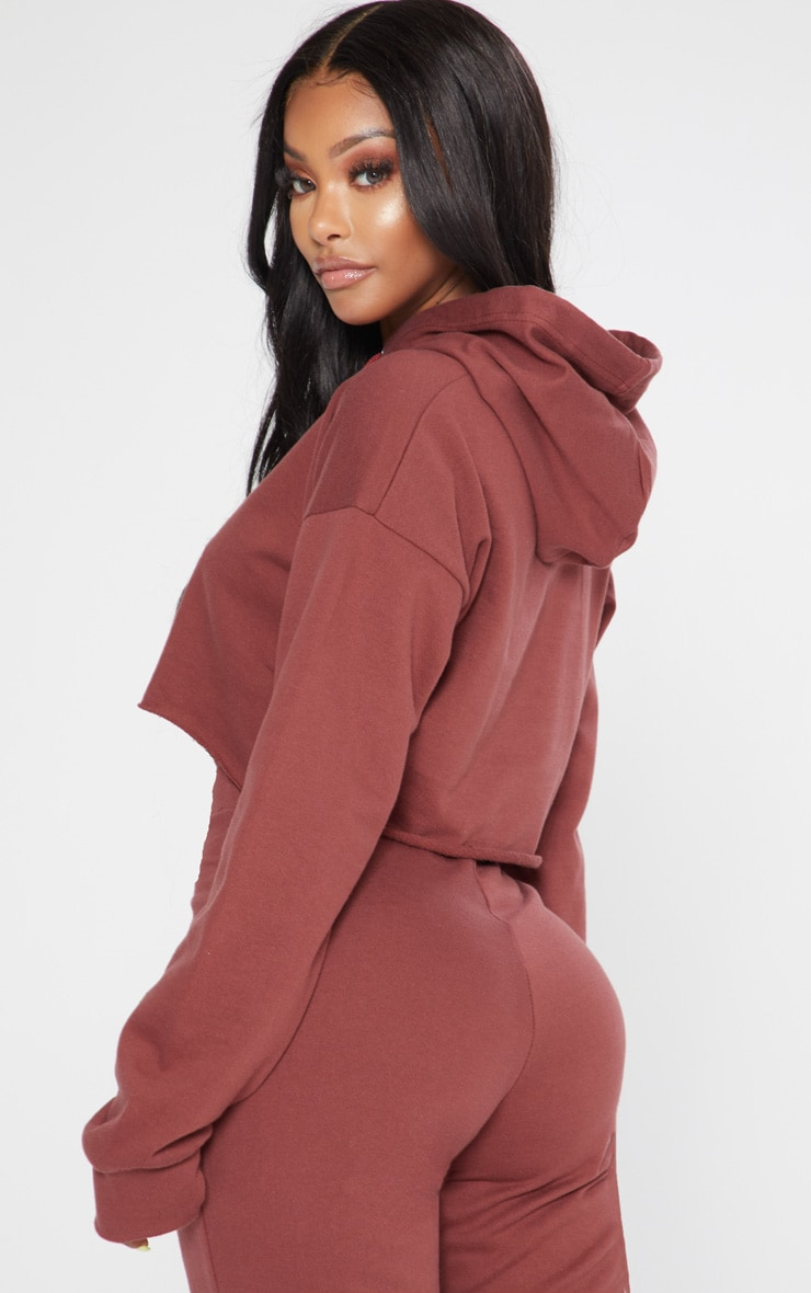 Shape Chocolate Open Neck Hoodie 2