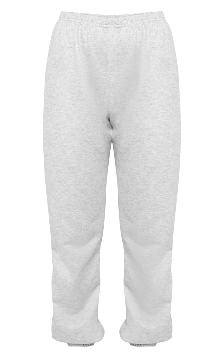 Grey Basic Cuffed Hem Track Pants 3