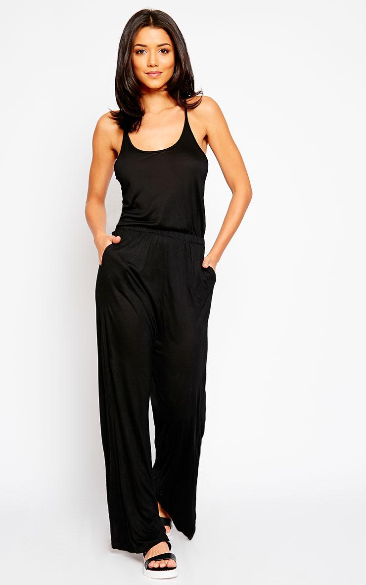 Esme Black Jersey Wide Leg Jumpsuit 4