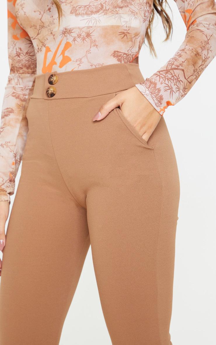 Camel Button Detail Skinny Trouser  5