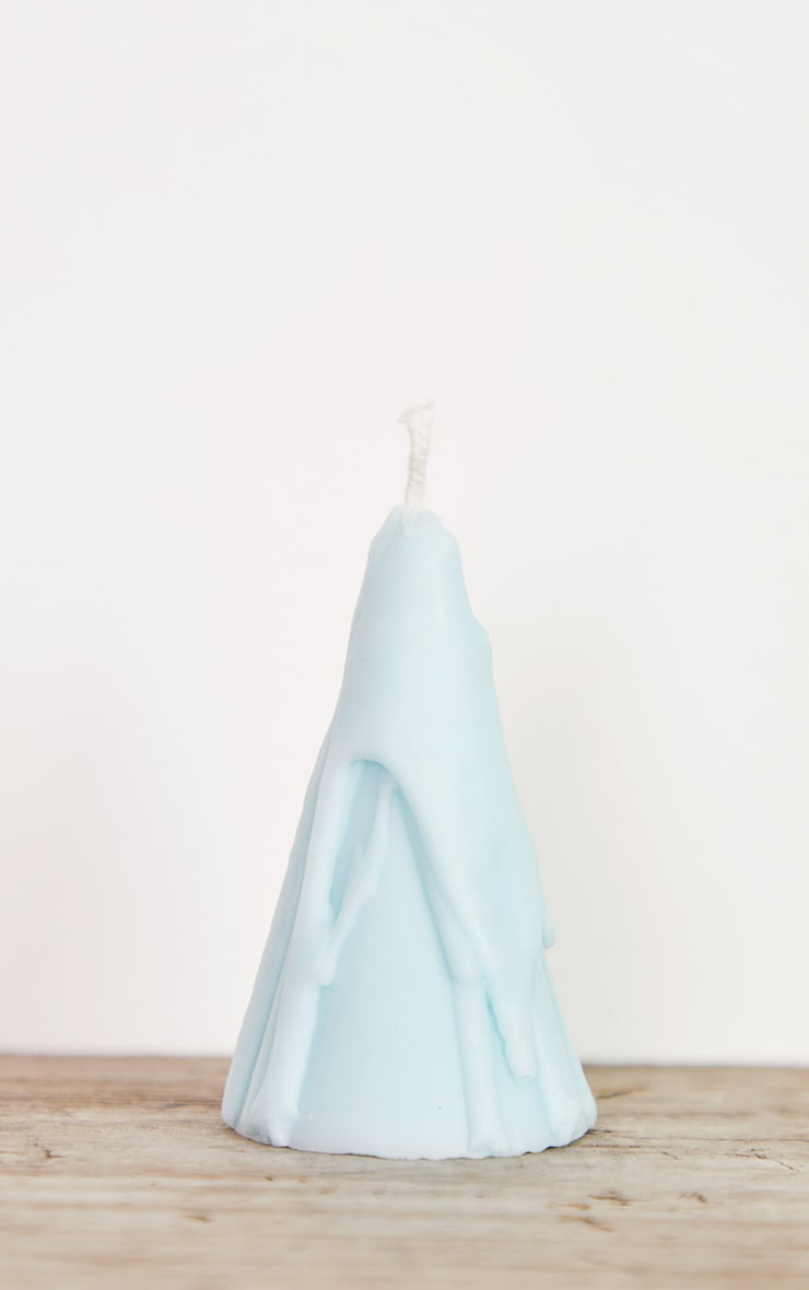 Baby Blue Dripping Cone Scented Soy Wax Candle 8cm 3