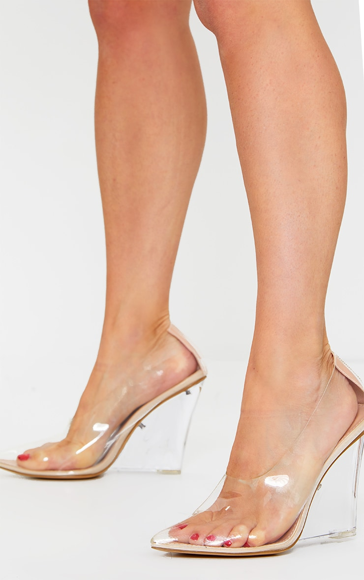 Clear Wedged Court Shoe 2