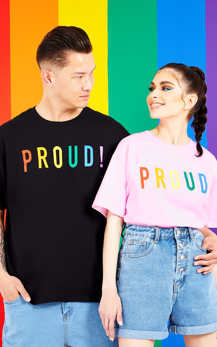 Black PROUD Oversized T-shirt