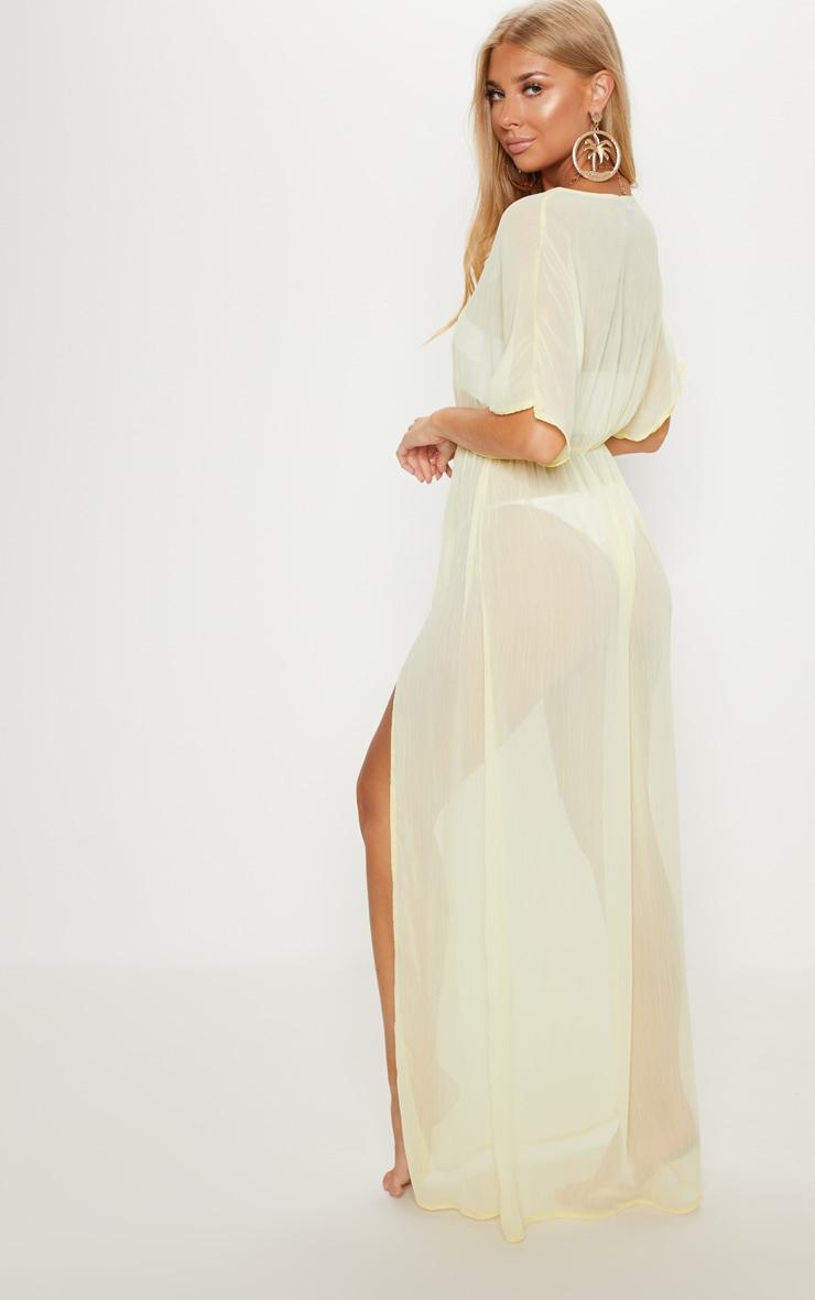Lemon Textured Beach Dress 2