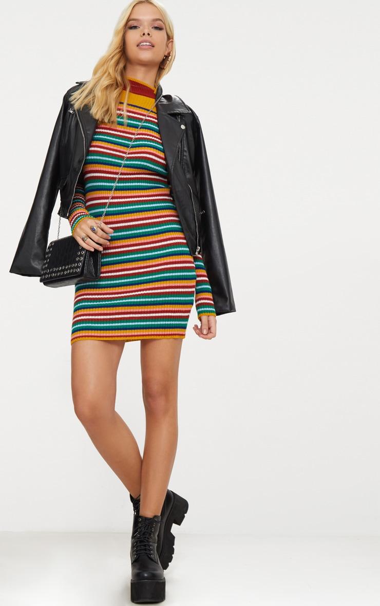 Multi Stripe Rib Dress 4