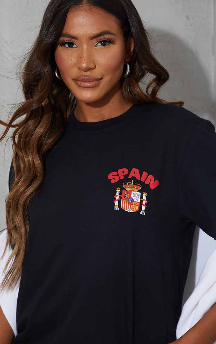 Black Oversized Spain T Shirt 4