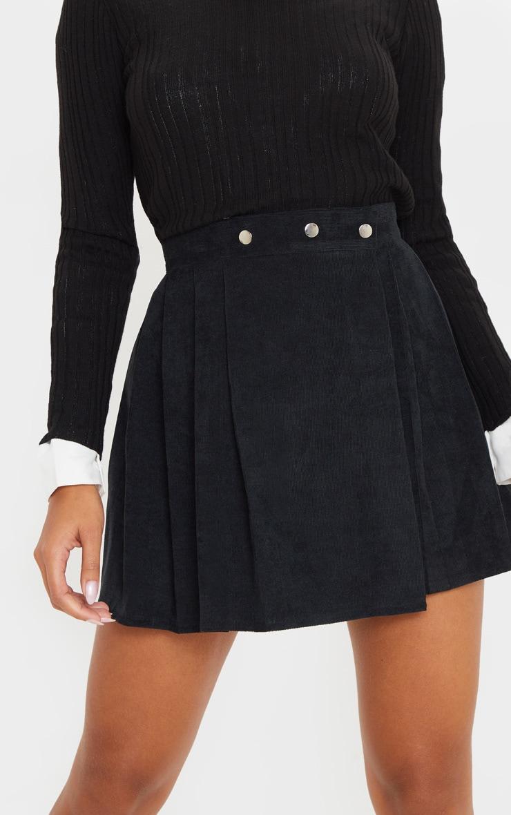 Black Cord Skater Skirt  6