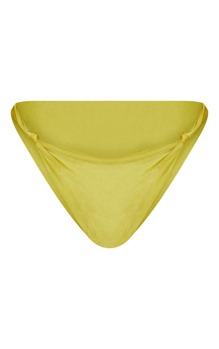 Olive Knotted Bikini Bottom 4