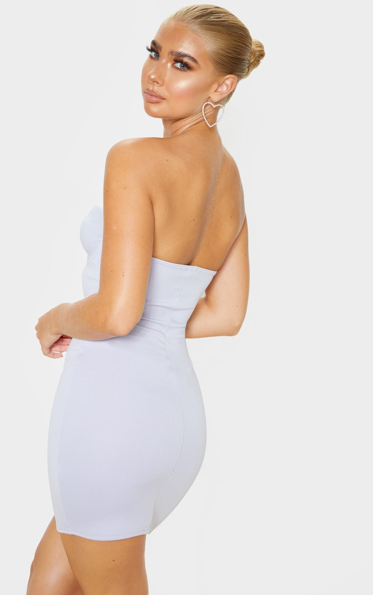 Lilac Winged Bandeau Bodycon Dress 2