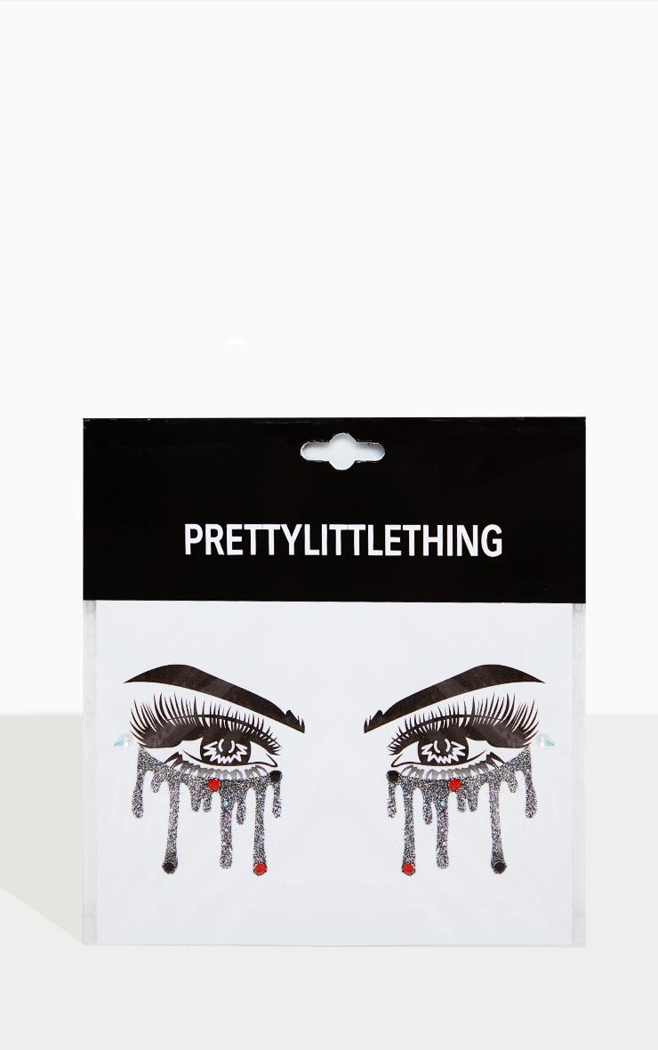 PRETTYLITTLETHING Clown Tears Eye Stickers 2
