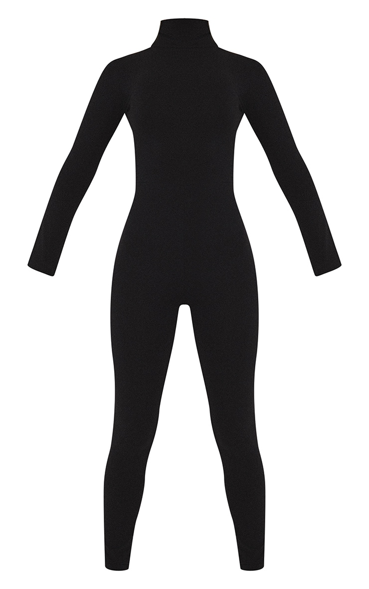 Black Roll Neck Long Sleeve Jumpsuit 5