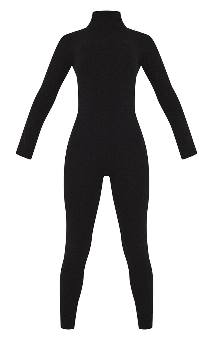 جمبسوت طويل الأكمام عالي الرقبة  أسود اللون 5