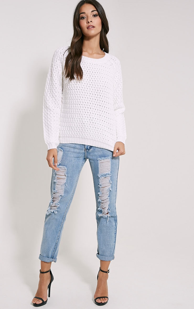 Jaylin Cream Cable Knit Jumper 3