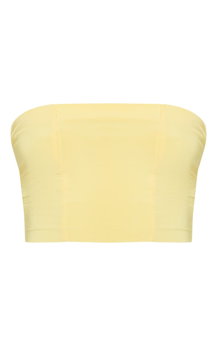 Yellow Slinky Bandeau Crop Top 3