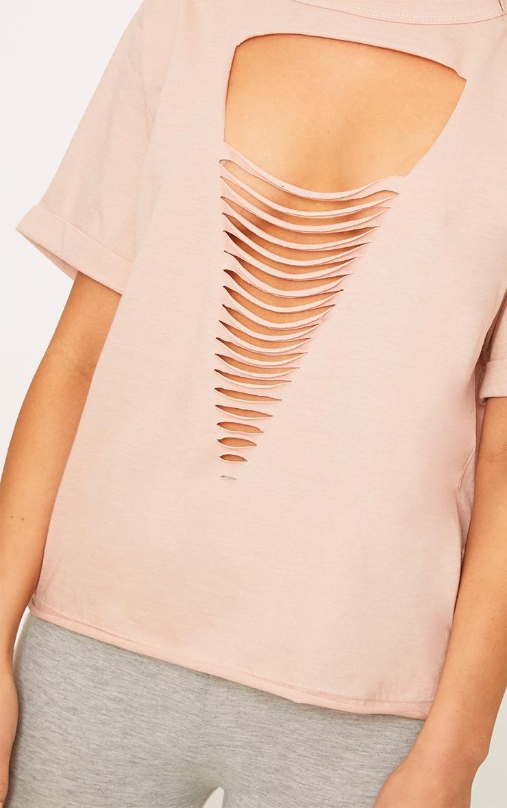 Theea Nude Extreme Choker Rip Jersey T Shirt 5