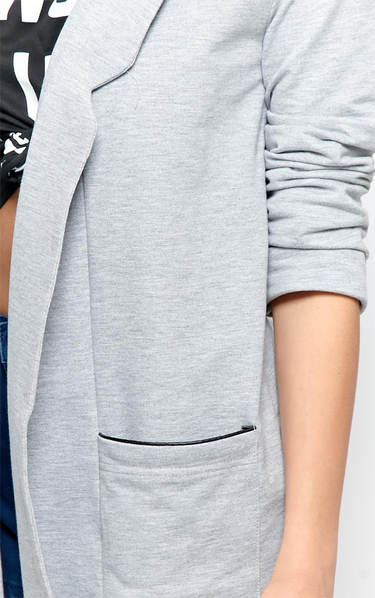 Lyla Grey Long Line Blazer  4