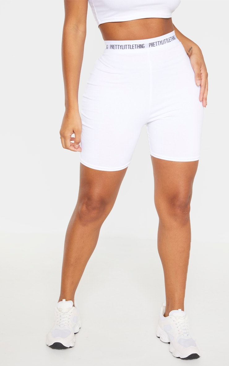 PRETTYLITTLETHING Shape Cream Cotton Cycling Shorts 2