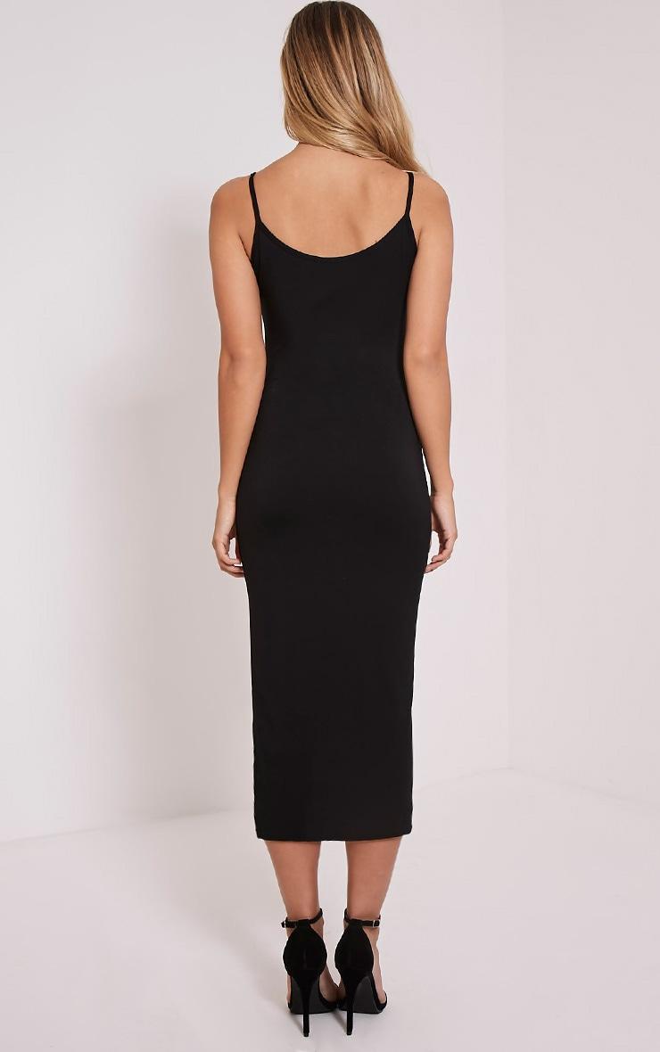 Basic Black Midi Vest Dress 2