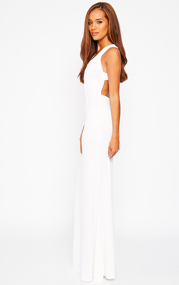 Brandy Cream Plunge Maxi Dress 5