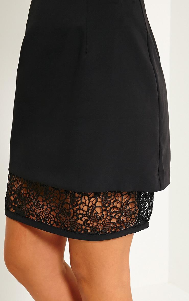 Aisling Black Lace Insert Skirt 6