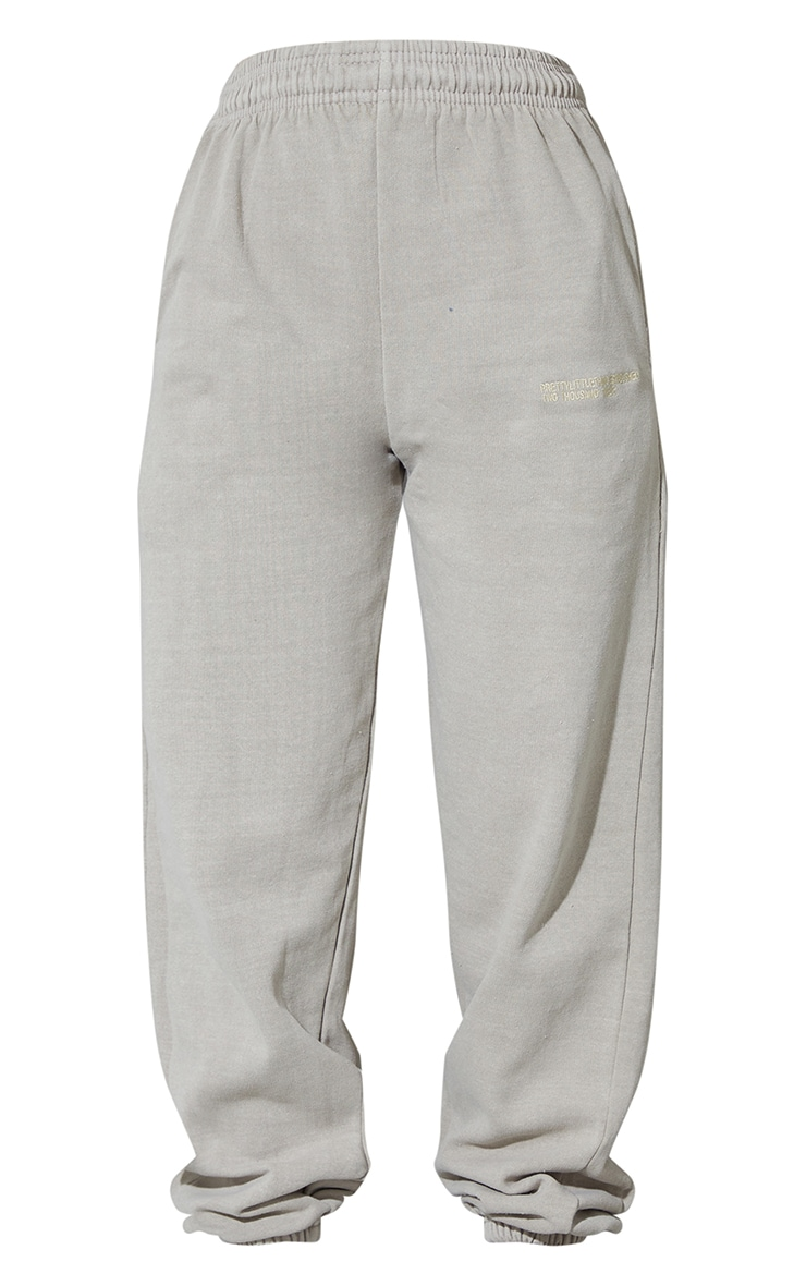 PRETTYLITTLETHING Recycled Grey Est 2012 Washed Joggers 5