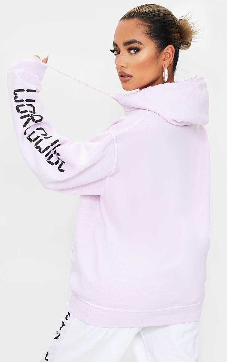 Petite Pink Worldwide Slogan Hoodie 2