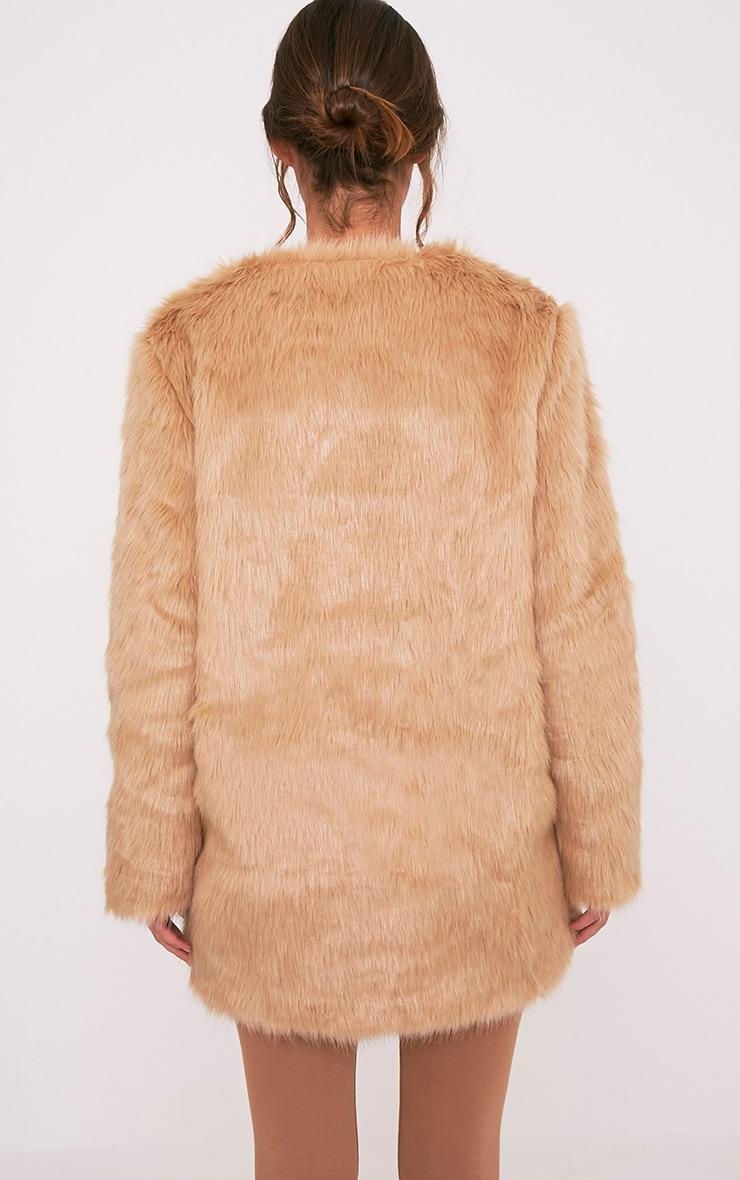Florencia Tan Faux Fur Coat 2