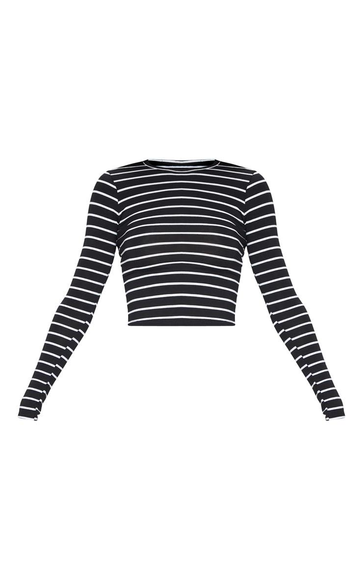 Mono Stripe Jersey Crew Neck Long Sleeve Top 3