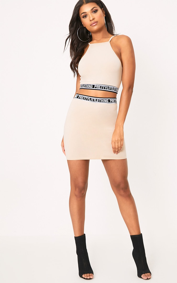 PRETTYLITTLETHING Nude Racer Crop Top 4
