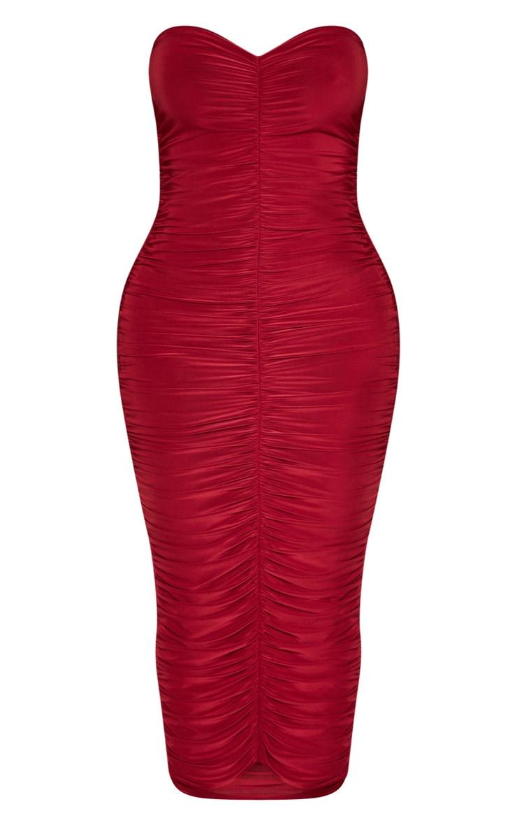 Shape Scarlet Bandeau Ruched Midaxi Dress 3