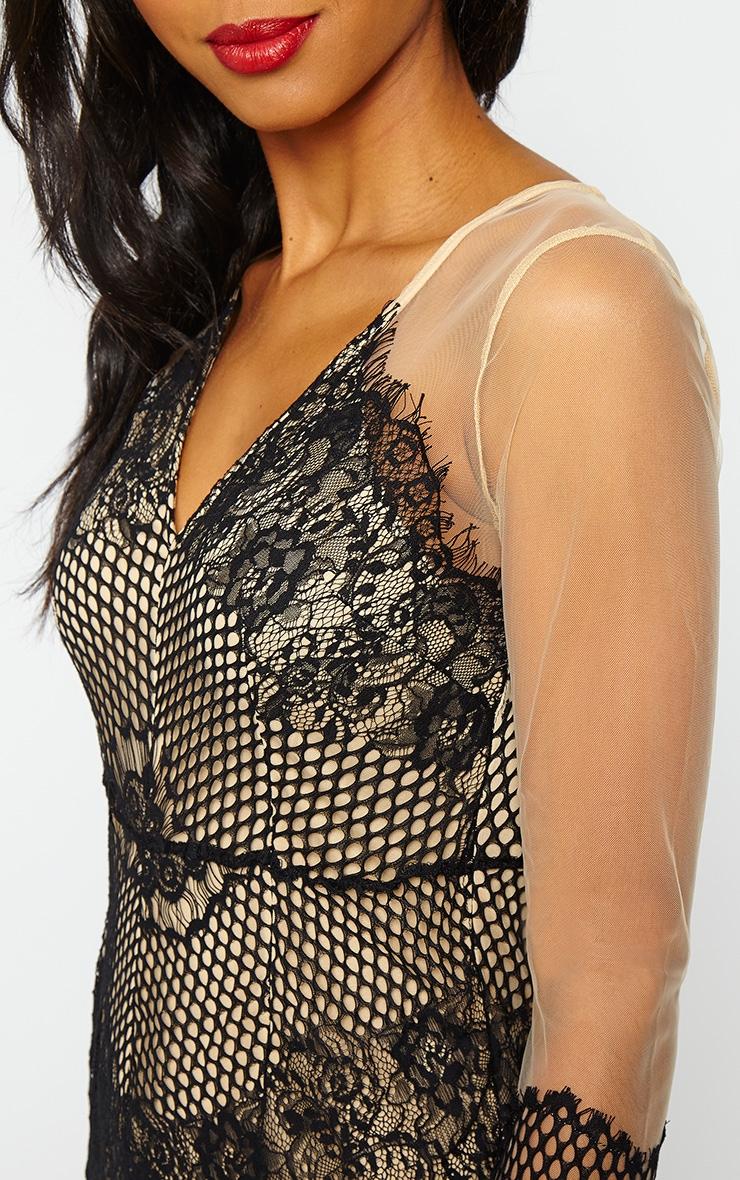 Talina Nude Eyelash Lace Dress 4