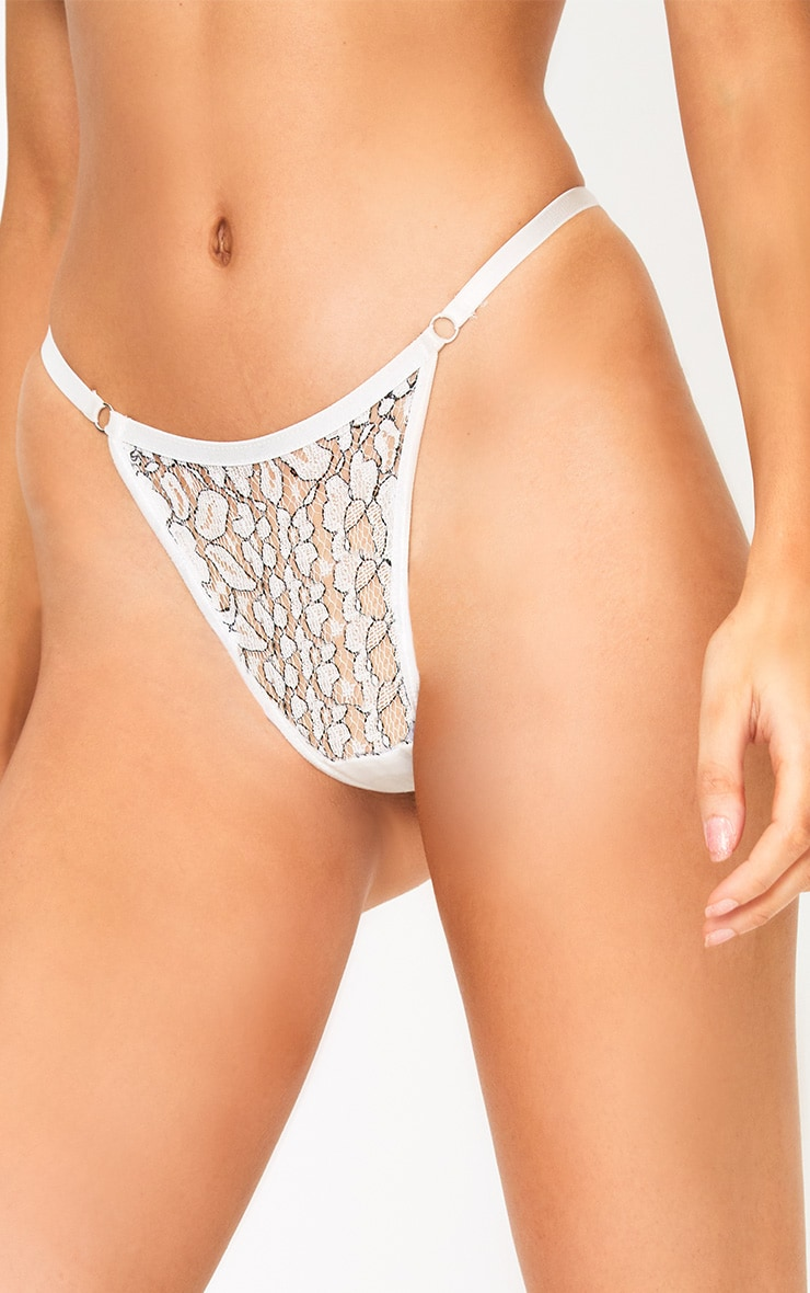 Reid White Lace Thong 5