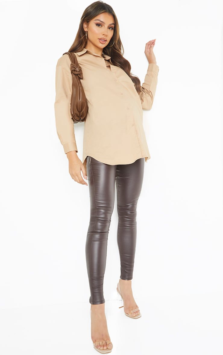 Maternity Chocolate Coated Skinny Jeans 1