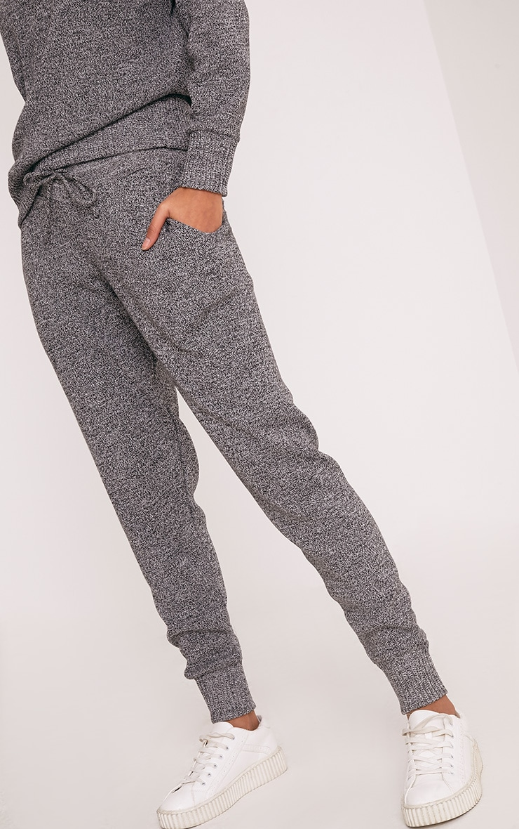 Grey Jogger Jumper Knitted Lounge Set 4