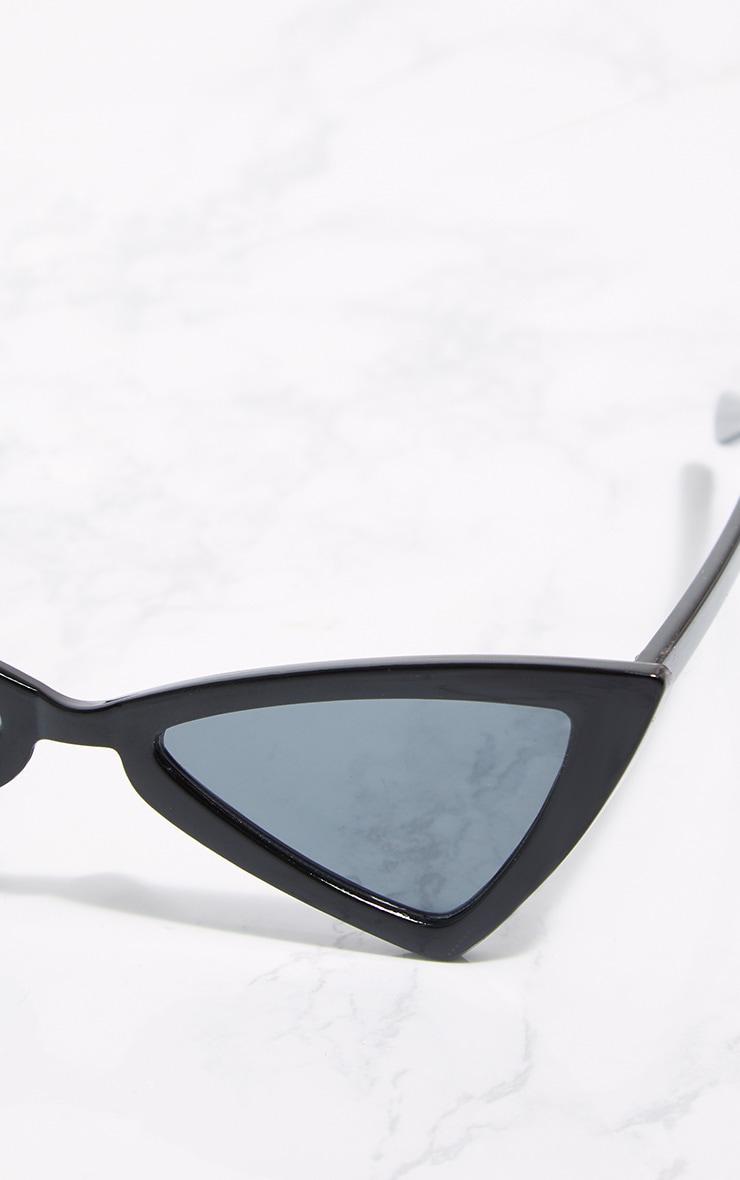 Black Triangle Frame Sunglasses 4