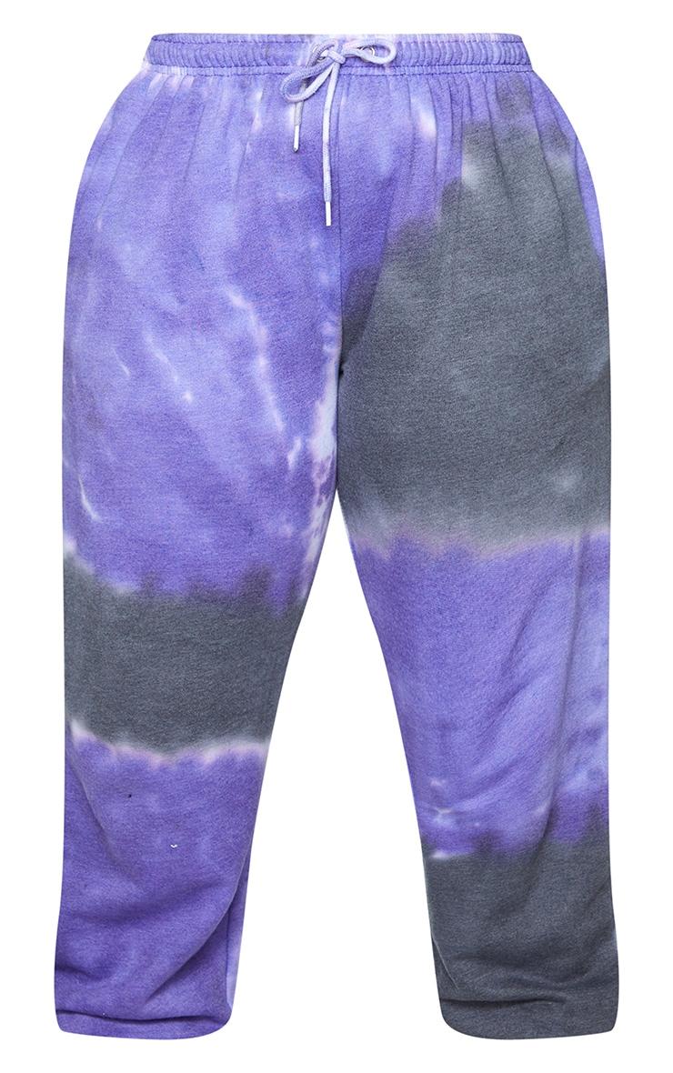 Plus Grey Tie Dye Drawstring Pocket Detail Joggers 5