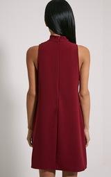 80f93fdd7786 Cinder Burgundy Choker Detail Loose Fit Dress image 2