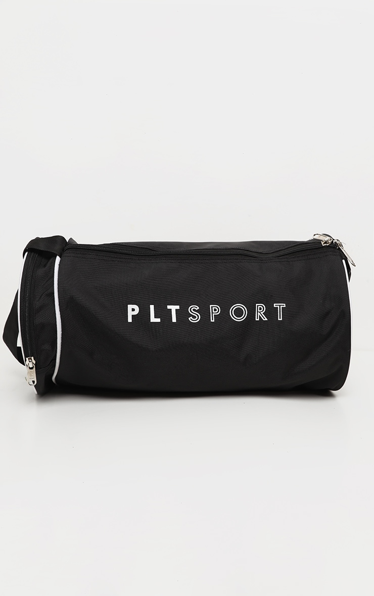 PRETTYLITTLETHING Black Sport Barrel Gym Bag 2