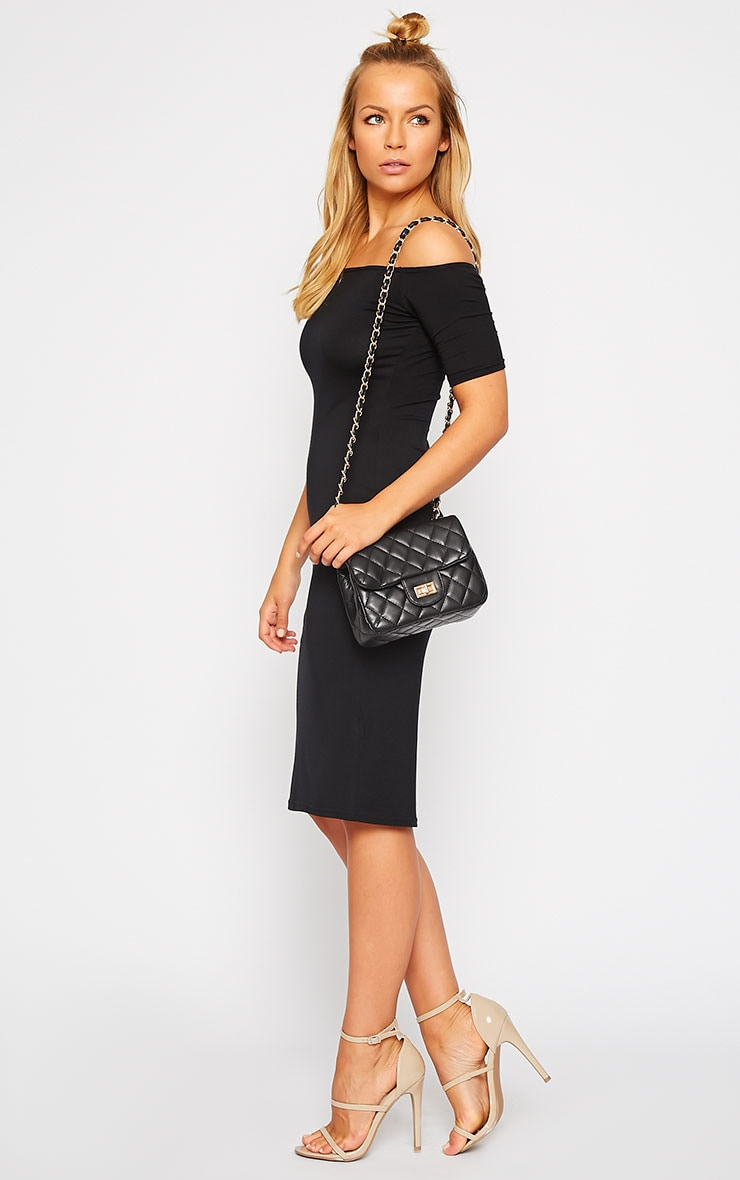 Corena Black Quilted Bag 2