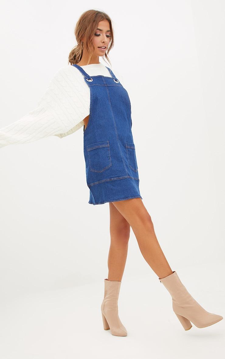 Mid Wash Pinafore Dress  4